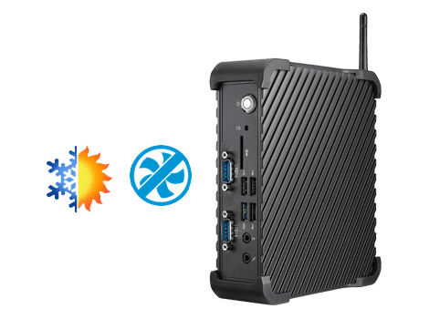 Clientron Industry Thin Client IT800, Robust aluminum with IP40 dust-proof and fanless design for critical environment