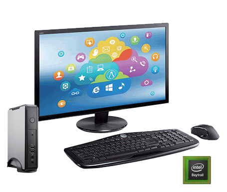 Clientron Thin Client L810, PC-like experience supporting Citrix HDX, Microsoft RDP, RemoteFX, VMware View protocols for Virtual Desktop solution