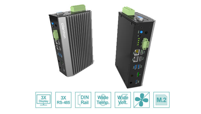 Industrial Platform with robust aluminum housing, fanless design for critical environment
