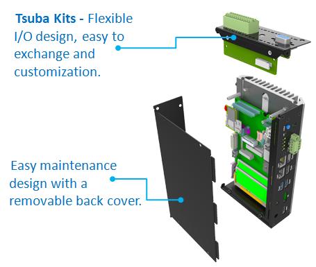 Innovative Design, Tsuba Kits - Flexible I/O design, easy to exchange and customization.