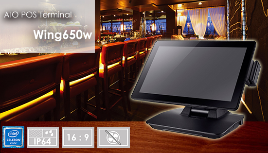 "brand new all-in-one POS terminal - Wing650w with 15.6"" widescreen touch display"