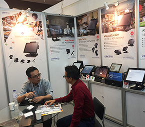 Visitors at Clientron Booth