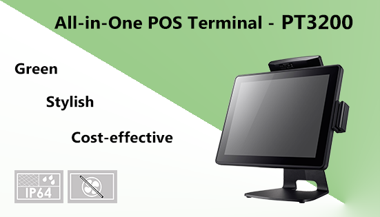 Clientron introduces its most compact POS terminal: The Stylish, Concise PT3200