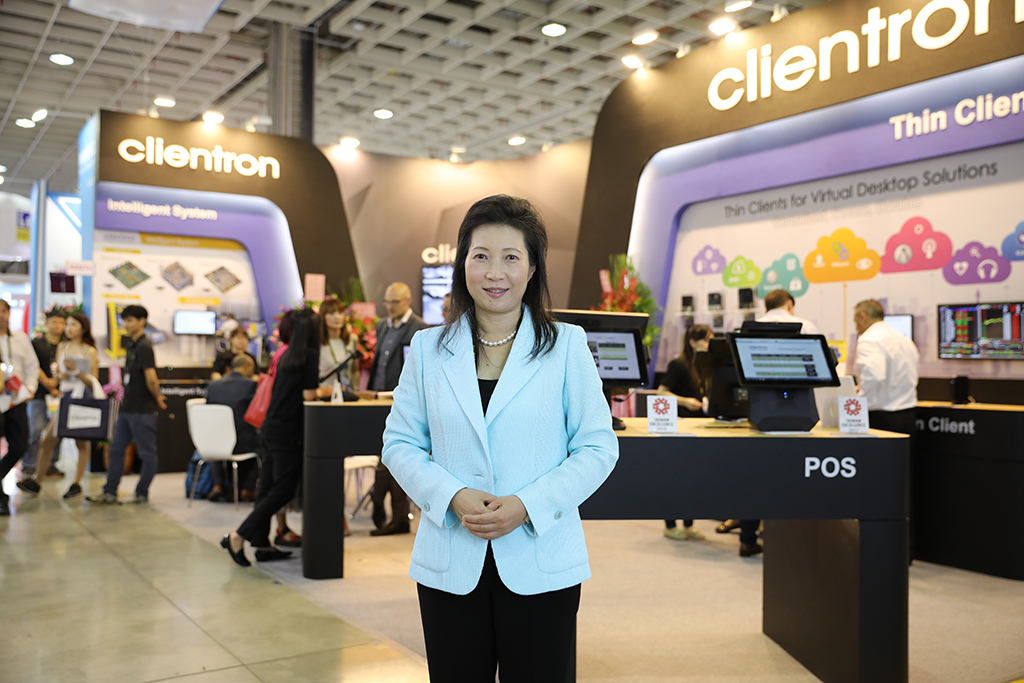 Kelly Wu, CEO of Clientron