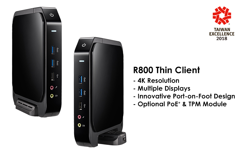 Multi-display Thin Client R800 for VDI Solutions, Clientron, Thin Client, R800, Taiwan Excellence Award, VDI Client, virtual desktops