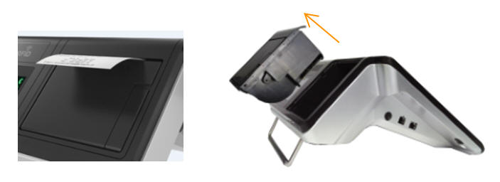 easy replaceable 3 inches printer integrated