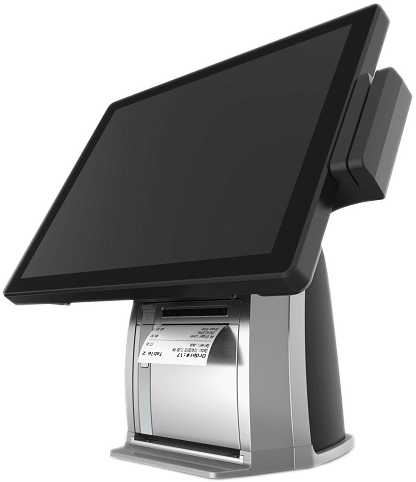 "PST650 series is a 15"" 4:3 multi-function PCAP touch POS system with built-in printer"