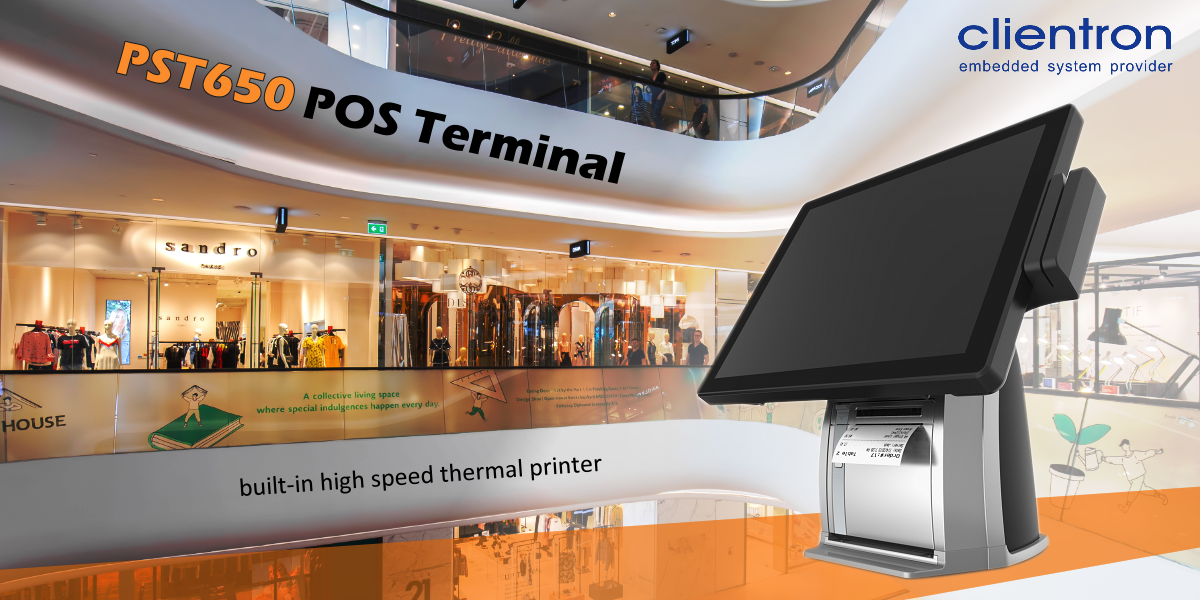Intelligent Retail Solution, Clientron PST650 Integrated Printer, POS terminal with printer, POS ystem, POS terminal, POS hardware