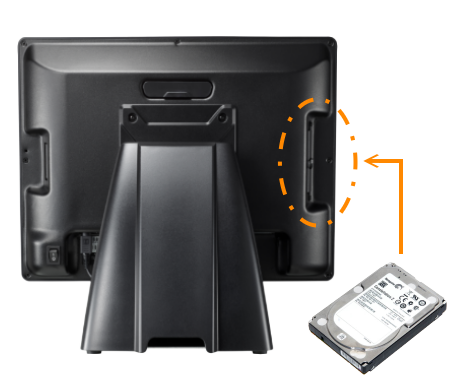 PT2000 All-in-One POS Terminal, An easy access 2.5