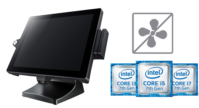 Fanless Design with Energy-Efficient and Powerful Intel 7th Gen. Processors