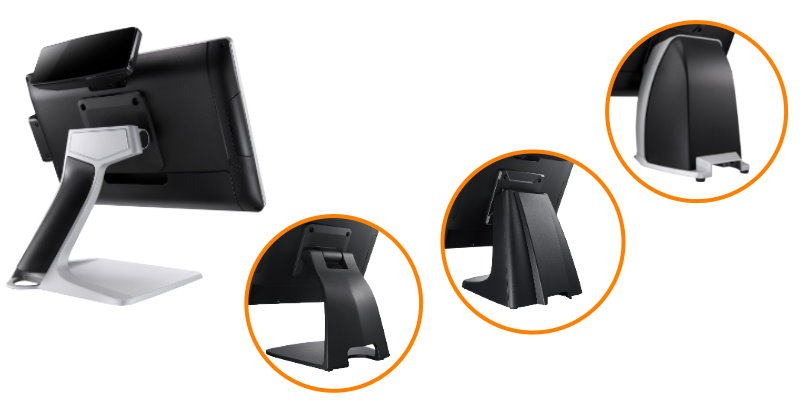 optional various foot stands with stands VESA mount for POS Terminal