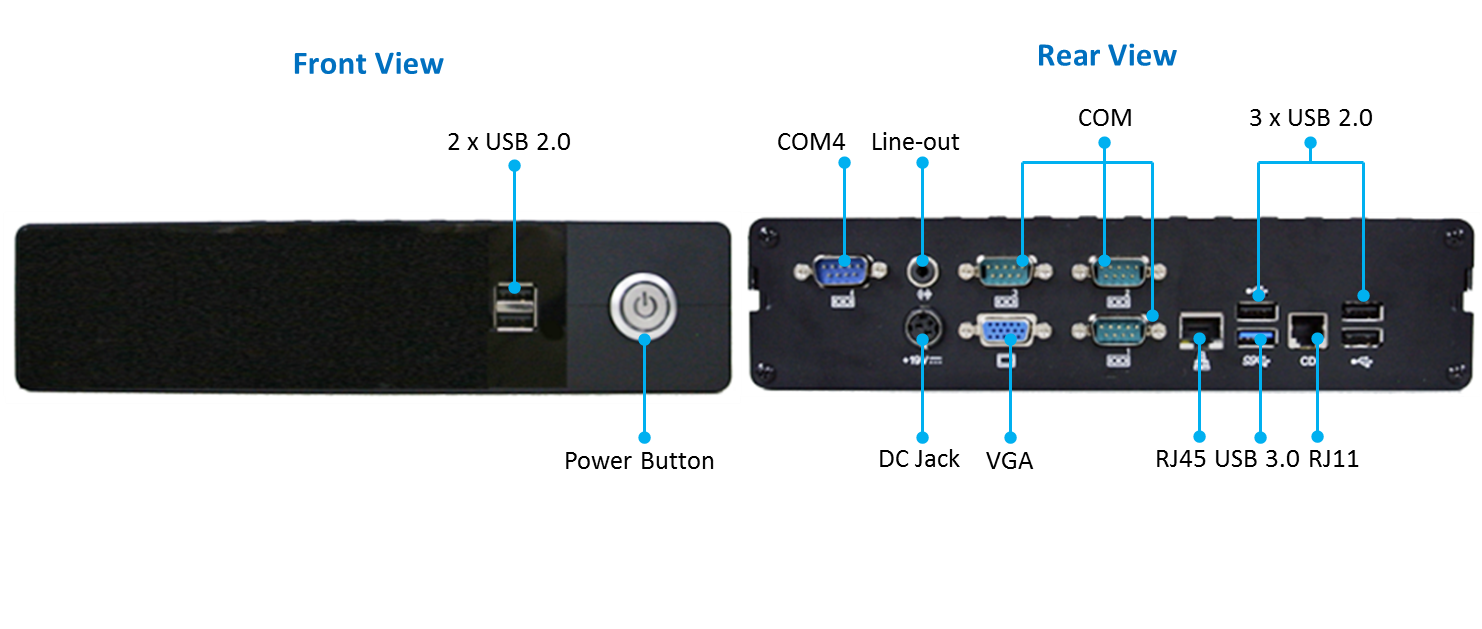Clientron AU3825 Embedded System IO drawing