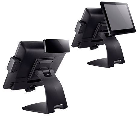 """Clientron Ares650 all-in-one POS terminal, Optional 8""""/10.4"""" bezel-free customer display and VFD"""