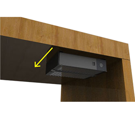 Easy installation with optional mounting bracket