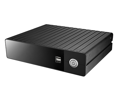 Clientron AU3821 Fanless Embedded System, Aluminum chassis and Robust construction