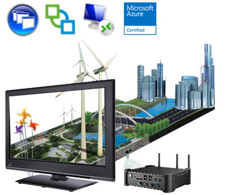 Industry Thin Client IT800, Reliable PC-like experience for virtual desktop solution for industrial usage