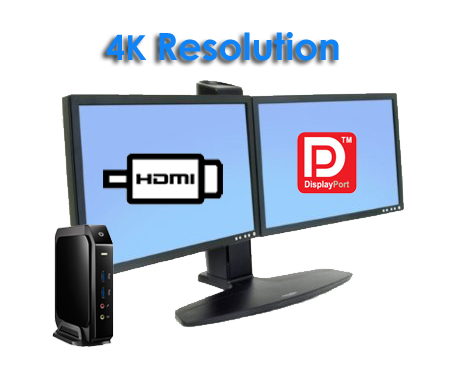 Thin Client Q800,High Definition Dual Displays