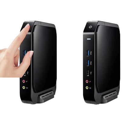 Thin Client R800, System powered on with touch button design without mechanical structure for excellent durability