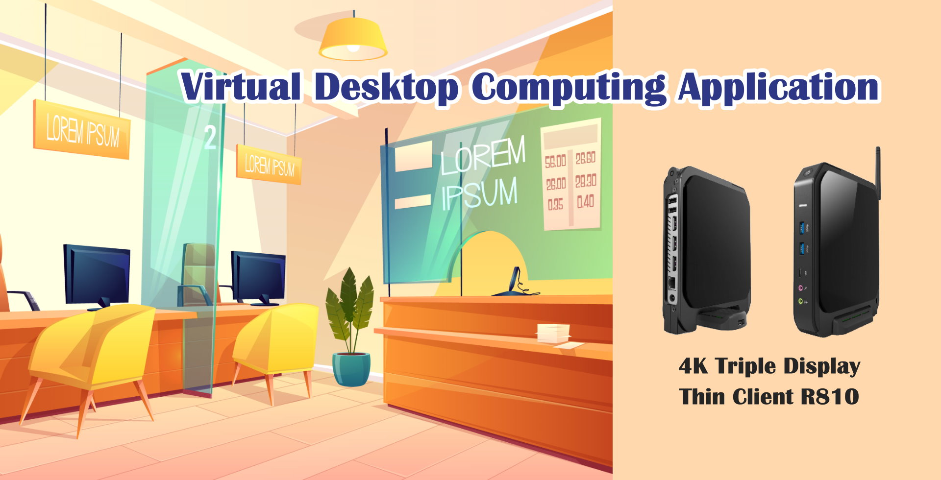 flexible and expandable commercial cloud thin client, virtual desktop computing