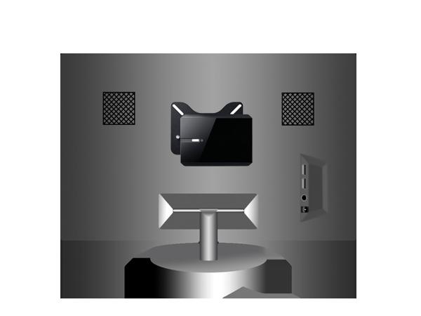 Optional VESA mount for flexible installation