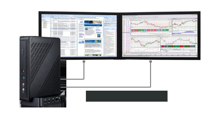 Clientron Thin Client S810, Dual DisplayPort, Max Display Resolution(2x4K @60Hz)