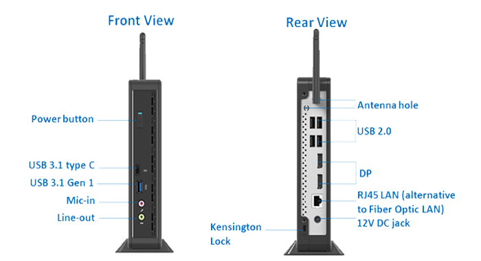 Clientron S810 Thin Client with Port-on-Foot