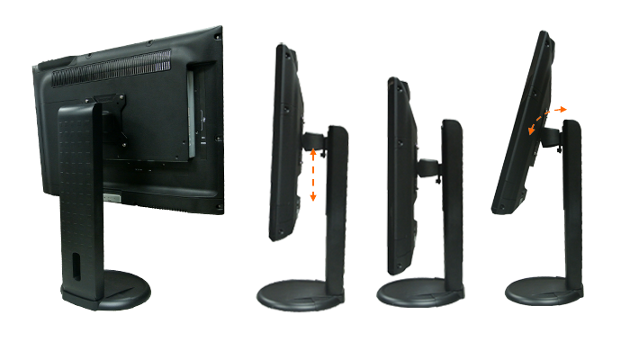 Clientron All-in-One Thin Client TC210, Optional adjustable footstand