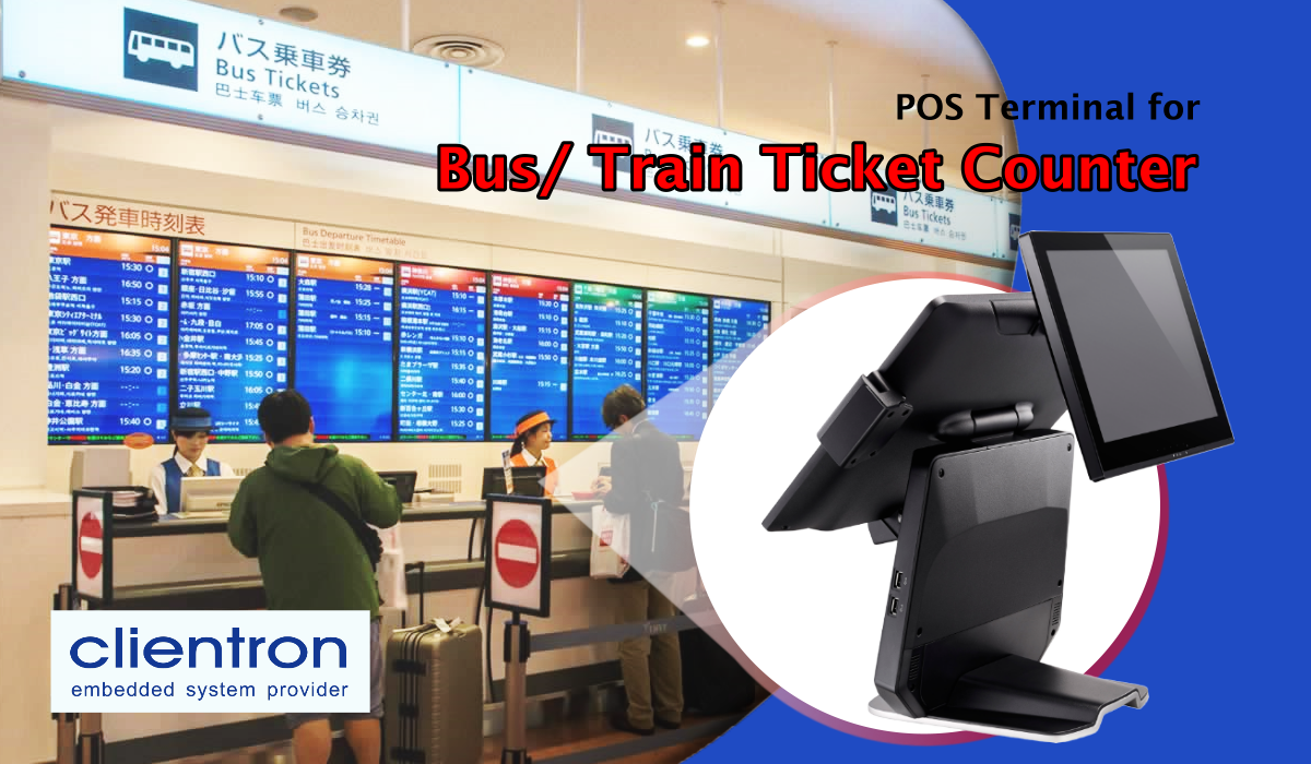 Clientron POS System for Bus & Train Ticket Counter Application