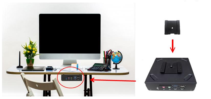 a flexible thin client built with vesa mount