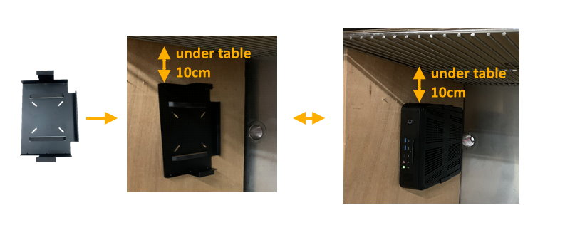 Desk Mount thin client