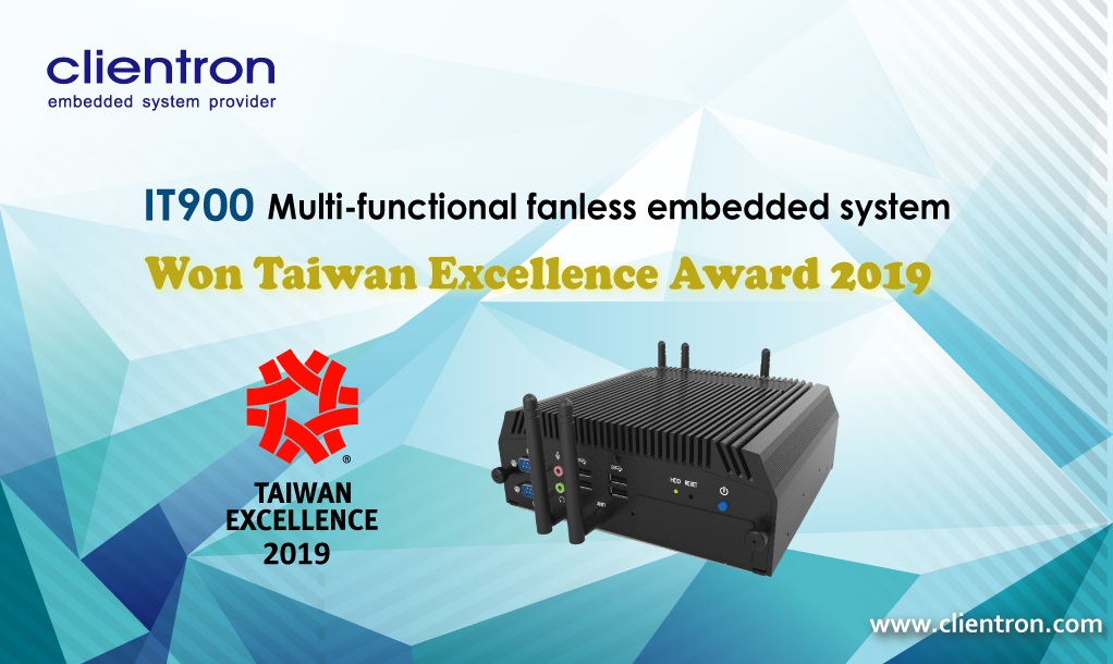 Clientron embedded system, Taiwan Excellence Award, IPC, IT900