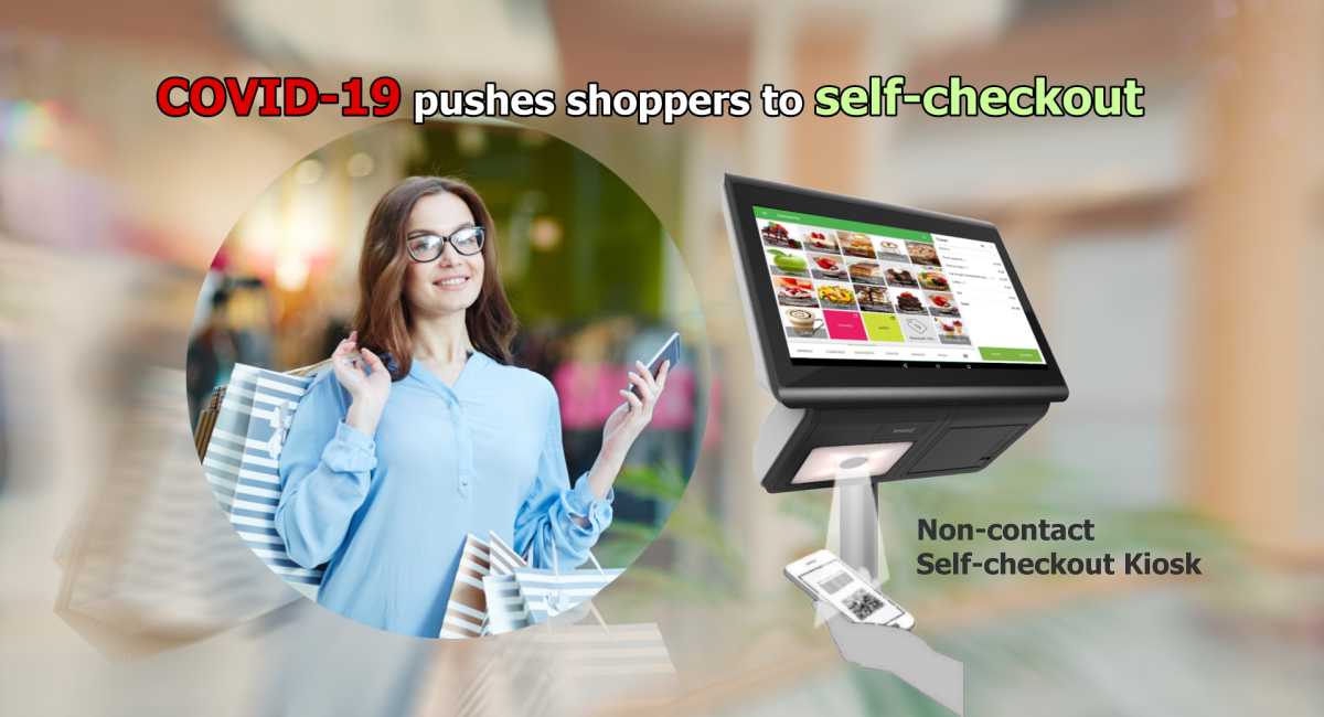 self-checkout kiosk is raising because of COVID-19