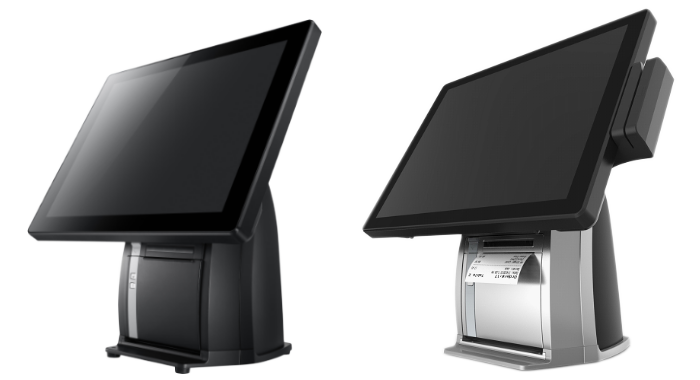 PST650 POS Terminal, Sleek Aluminum Chassis and Compact Design