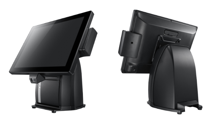 PST650 POS Terminal, Small Footprint and Screw-less Rear Cover Assembly Design
