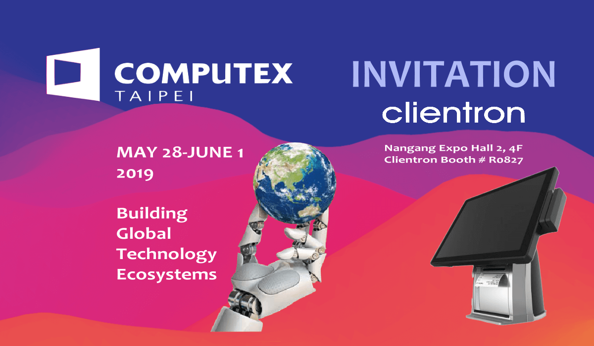 Clientron attends Computex 2019 in Taipei.